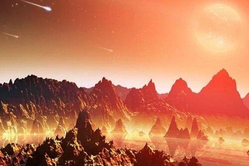 планета Земли под метеоритной бомбардировкой