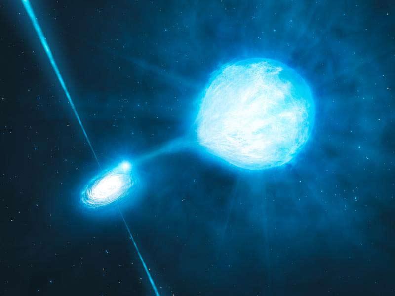 Черная дыра поглощает звезду