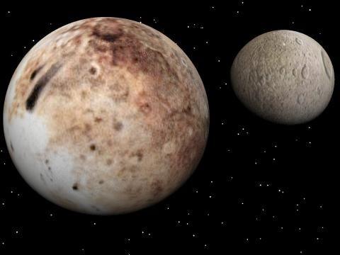 Плутон и его спутник