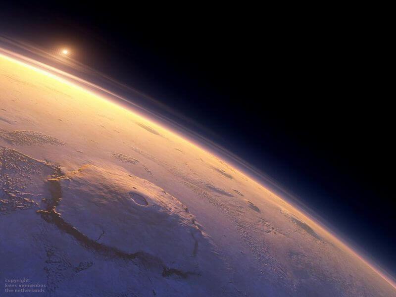 Марс. Гора Олимп