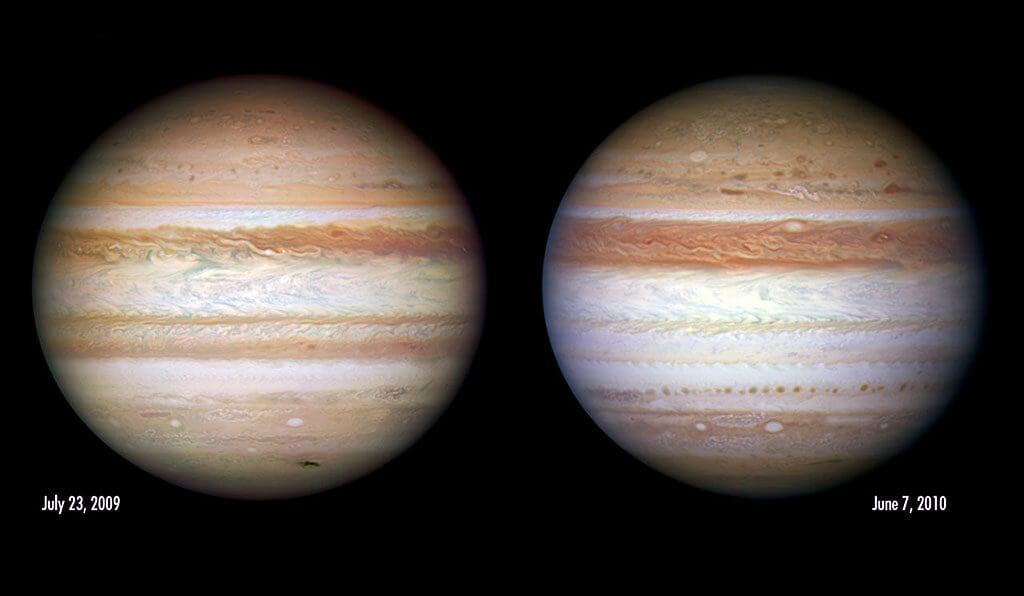 Зоны и пояса на Юпитере